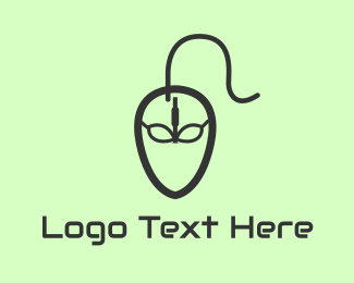 Coding - Alien Mouse logo design