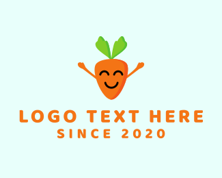 Emoticon - Happy Carrot logo design