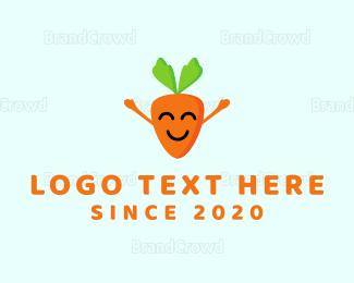 Carrot - Happy Carrot logo design