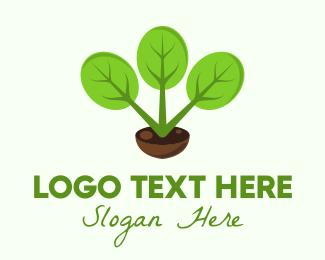 Hanging - Plant Gardening Pot logo design