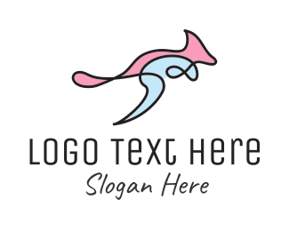 Scrapbook - Kangaroo Art logo design