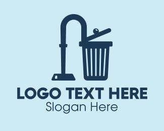 Disposal - Hoover Trash Can  logo design