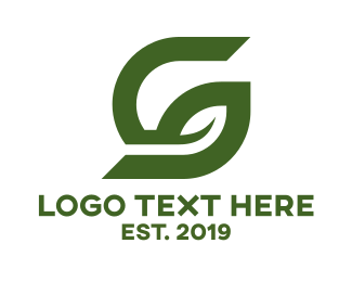 Geothermal Energy - Green G Leaf logo design