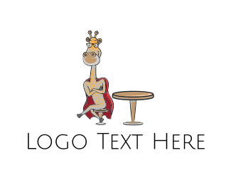 Superhero - Super Giraffe logo design
