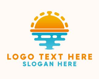 Platter - Sunrise Catering logo design