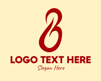 Roaster - Flame Letter B  logo design