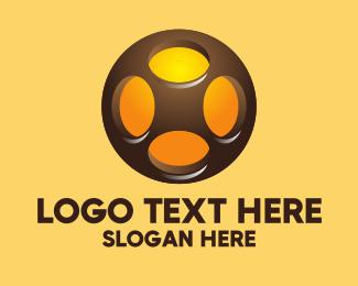 Wheels - Abstract Automotive Technology logo design