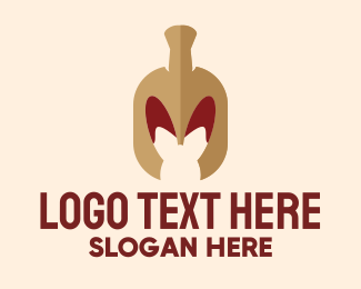 Medieval Warrior Helmet Logo