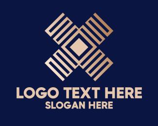 Zigzag - Geometric Letter X  logo design