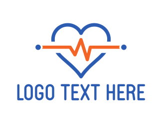 Cardiology - Heart Pulse logo design
