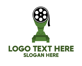 Cannon - Film Reel Tank logo design