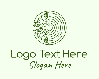 Foliage - Green Plant Leaves Circle logo design