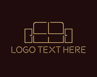 Sofa - Sofa Outline logo design