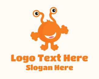 Monster - Orange Kiddie Monster logo design