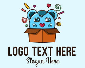 Cuddly - Teddy Bear Box logo design
