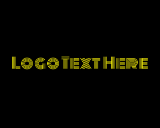Text - Bright Entertainment Text Lines logo design