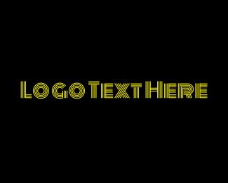 Pr - Bright Entertainment Text Lines logo design