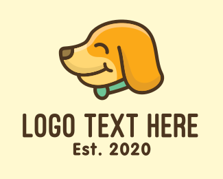 Pet Grooming - Happy Dog Puppy logo design