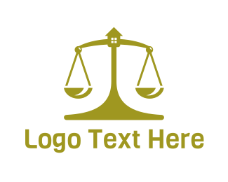 Lawyer - Golden House Scale logo design