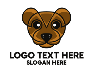 Teddy - Modern Brown Bear logo design