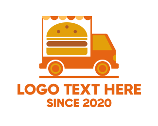 Food Delivery - Burger Food Truck logo design