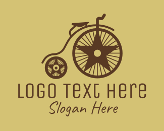 Bicycle Team - Traditional Penny Farthing logo design