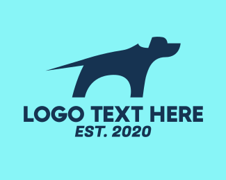 Kennel - Blue Guard Dog logo design
