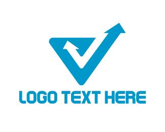 Rewind - Arrow Letter V logo design