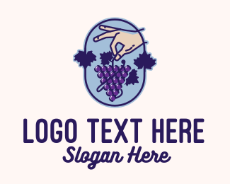 Farmers Market - Grape Vine Harvest  logo design