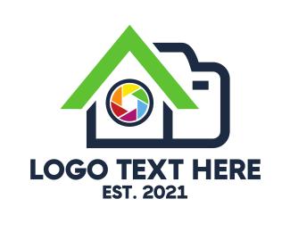 Cameraman - Camera Shutter House logo design