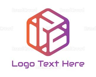 Dynamic - Gradient Play Hexagon logo design