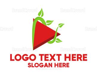 Agricultural - Vegan Vlogger logo design