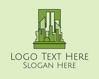 Urban Planner - Green City Skyline  logo design