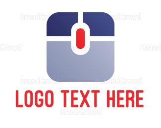 Hardware - Square Mouse logo design