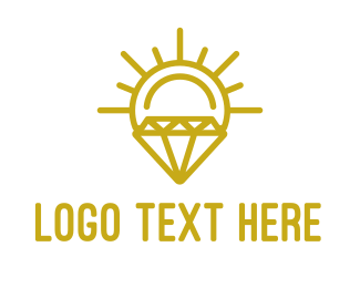 Diamond - Solar Diamond logo design