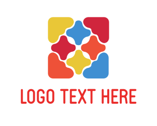 Tile - Colorful Tiles logo design