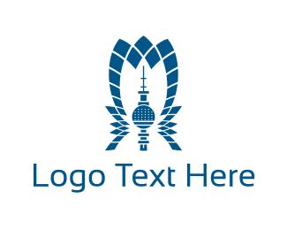 Lighthouse - Flower Tower logo design
