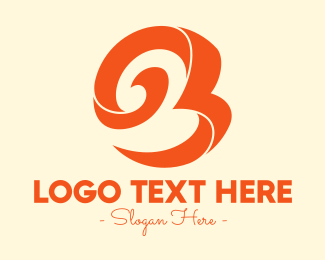 Swirly - Fancy Swirly Letter B logo design