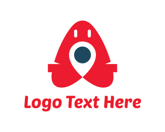Locater - Red Pin logo design