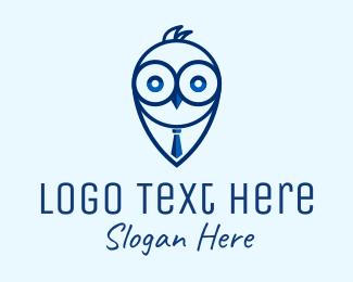 Suit And Tie - Watch Owl Recruitment logo design