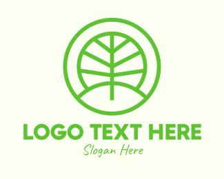 Forest - Green Eco Forest logo design