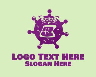 Transmission - Angry Purple Virus  logo design