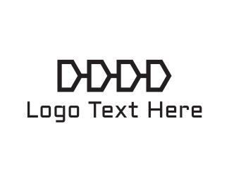 Zip - Chain Letter D logo design