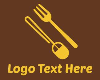 Fork - Food Shop Online logo design