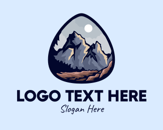 Moonlit - Outdoor Alpine Explorer logo design