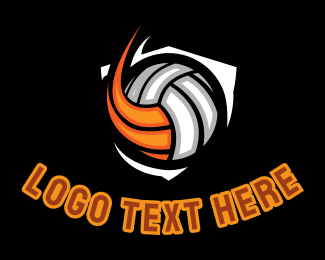 Varsity - Volleyball Ball logo design