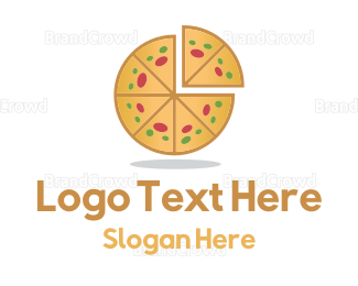 Italian Food - Pizza Pie  logo design