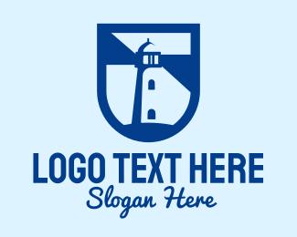 Guide - Blue Shield Lighthouse logo design