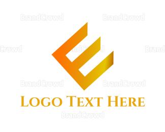 Fortune - Golden Letter E logo design
