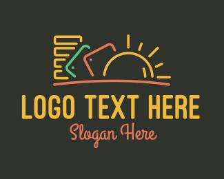 Study - Neon Study Hub logo design